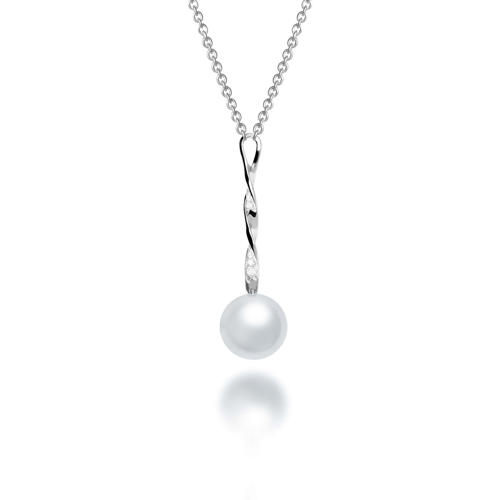 Savannah South Sea Pearl Diamond Pendant - VenessaDiamond