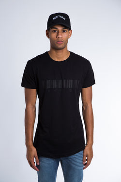 'Barcode' T-Shirt - Black