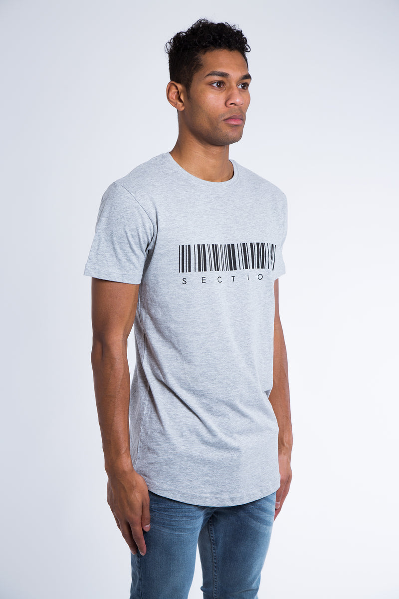 'Barcode' T-Shirt - Grey