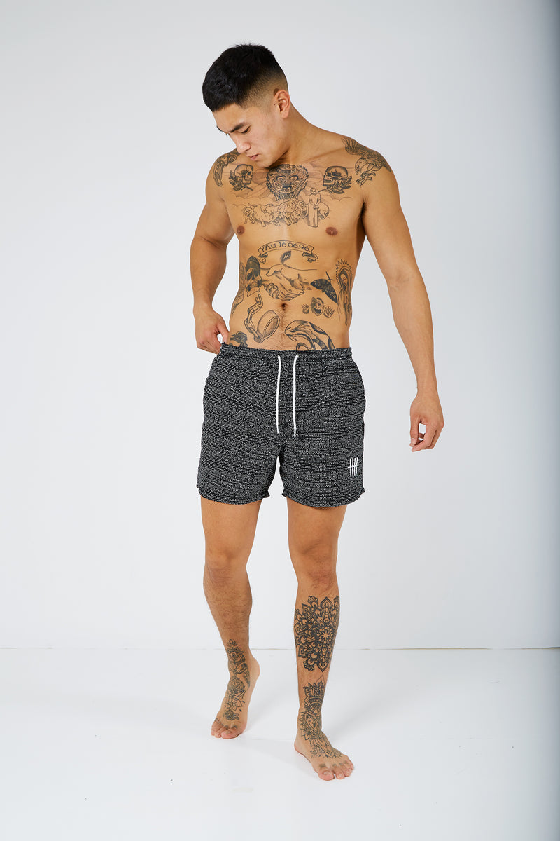 Lucas Printed Monochrome Swim Shorts