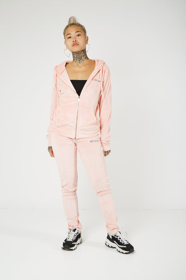 Hooded Velour Lounge Top