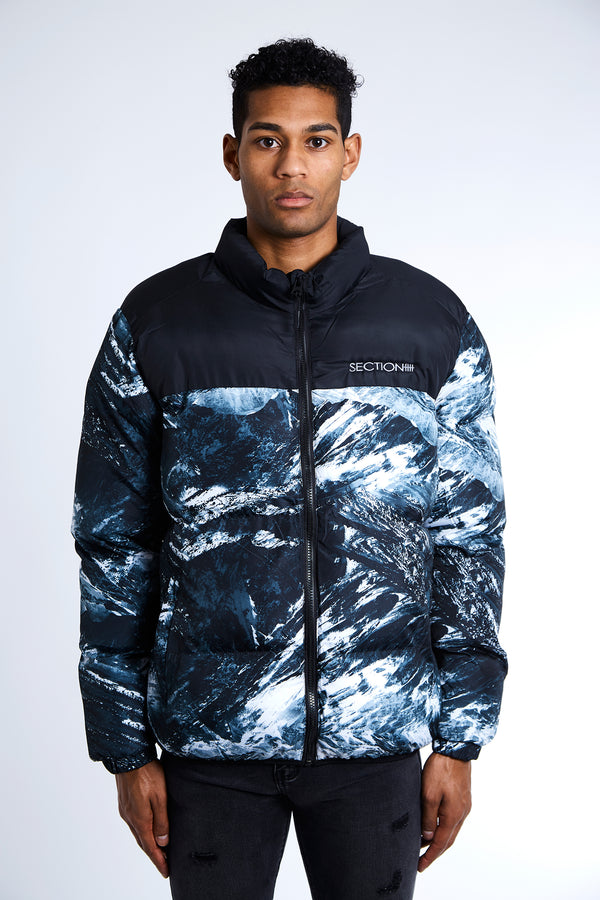 Abstract Puffa Jacket