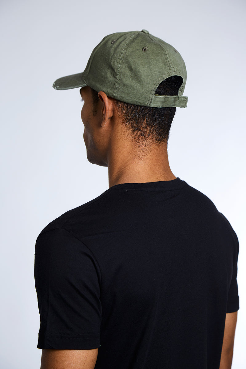 Section Barcode Distressed Hat - Khaki