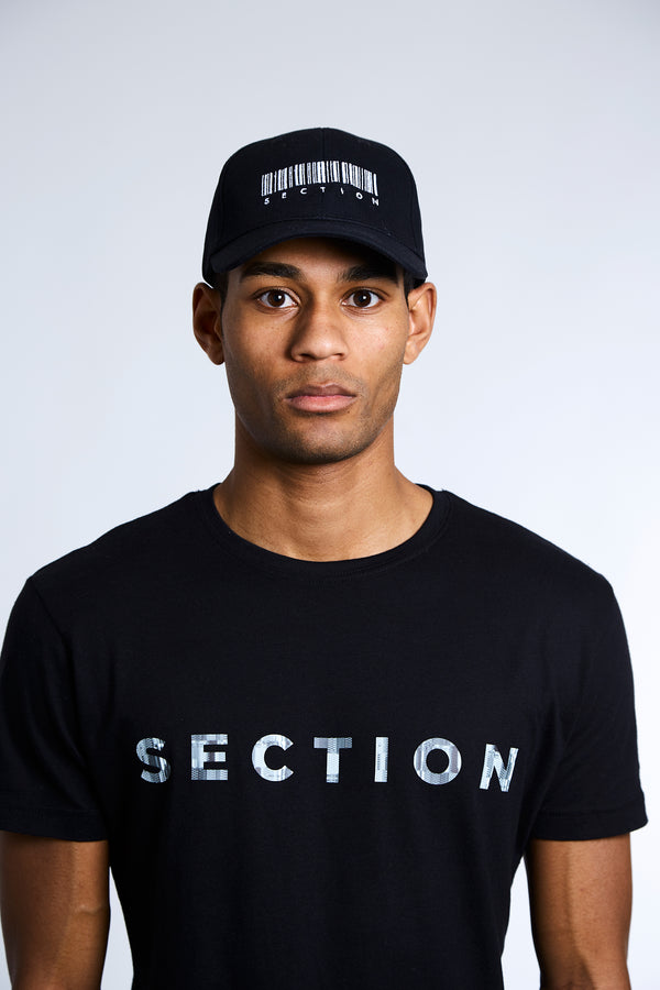 Section Barcode Hat - Black