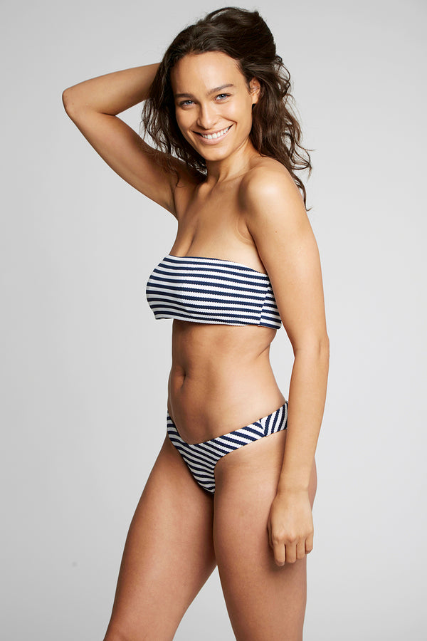 Striped Bandeau Bikini Set X By Kady