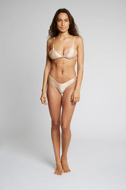 Apricot Triangle Bikini Top X By Kady