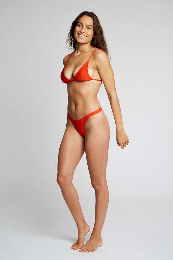 Red Triangle Bikini Top X By Kady