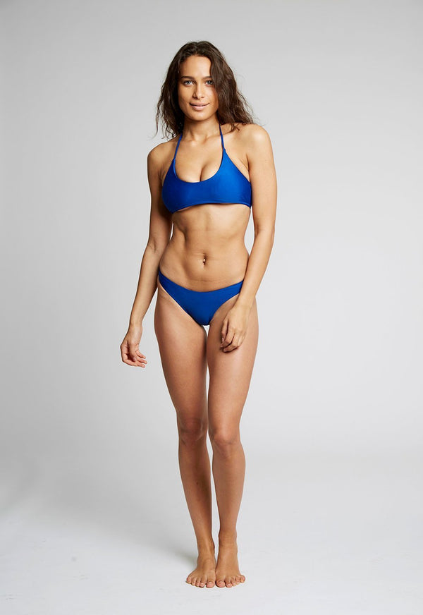 Blue High Leg Bikini Top X By Kady