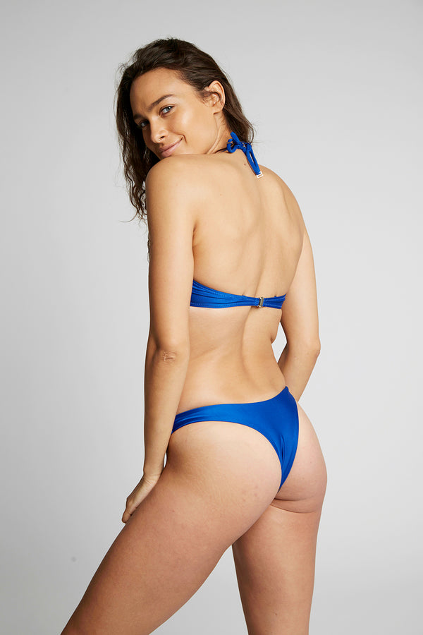 Blue High Leg Bikini Bottoms X By Kady