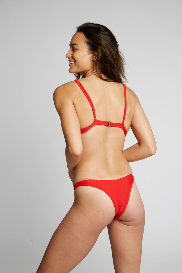 Red Underwire Bikini Bottoms X By Kady