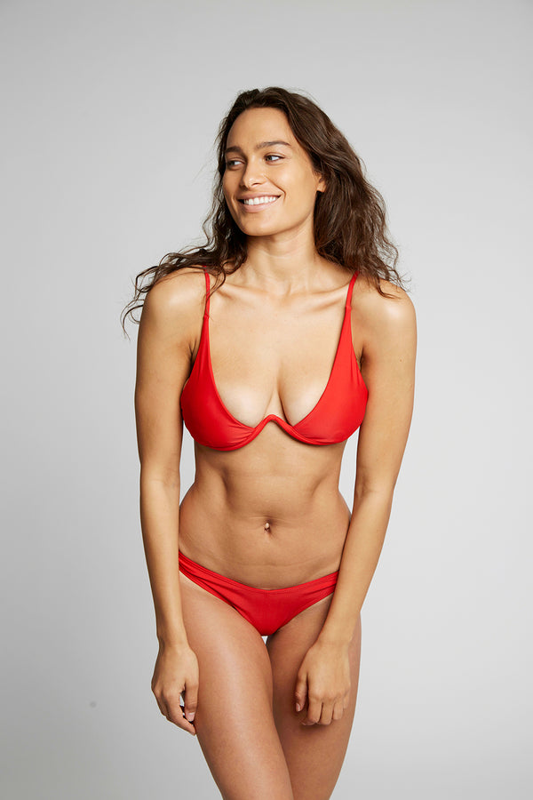 Red Underwire Bikini Top X By Kady