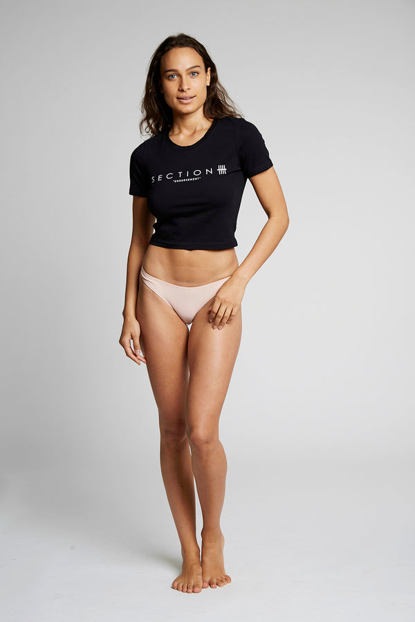 Black Section 'Endorsement' Crop Top