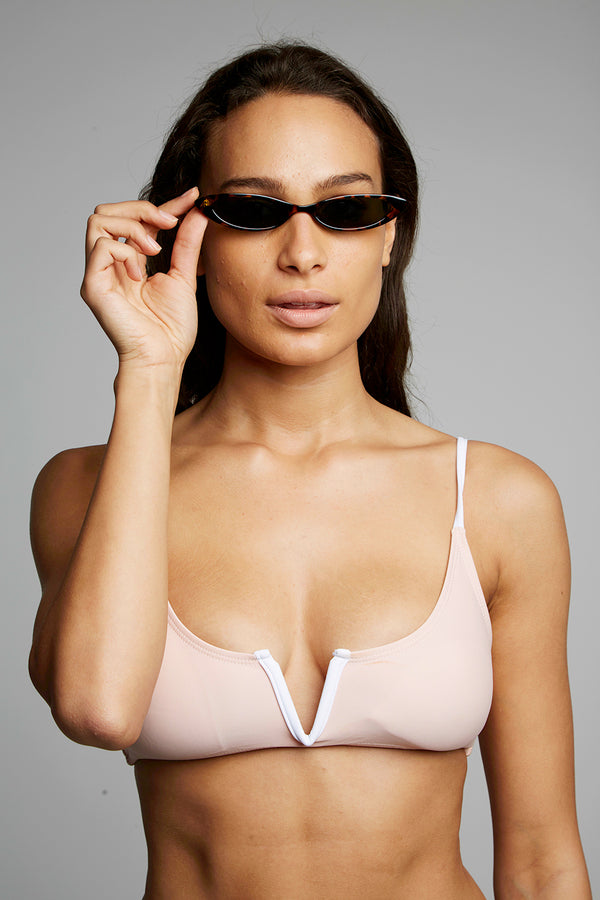 Retro Small Narrow Cat Eye Sunglasses