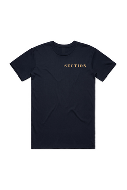 Section Club Navy T-Shirt - Gold