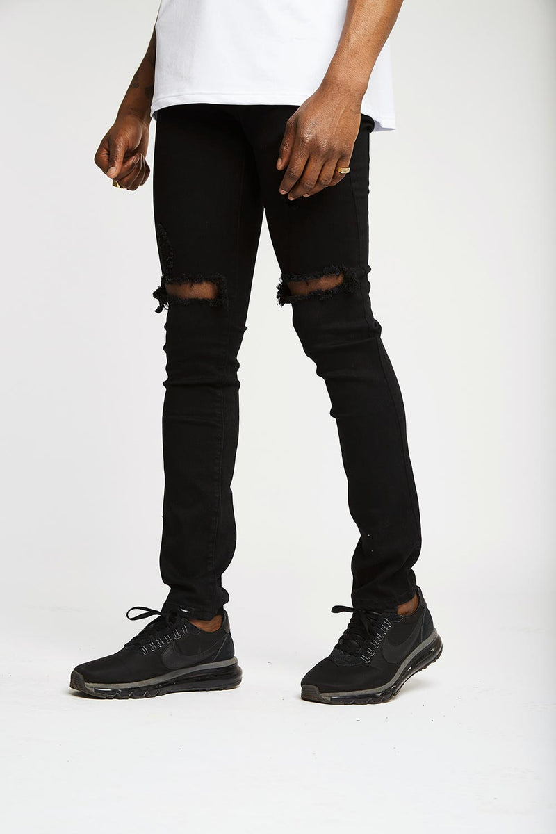 Black Destroyer Denims