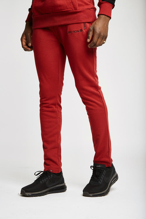 Maddox Bottoms - Burgundy