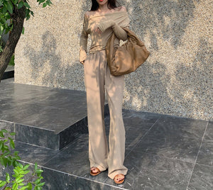 Celine applique gown (READY STOCK IN L SIZE GREY / 5 colours)