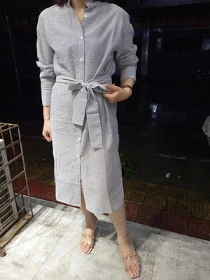 Maddie shirt dress (ready stock in L)