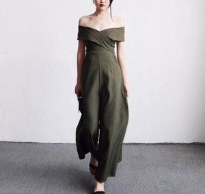 Kendra jumpsuit (ready stock in green M size / 4 colours)