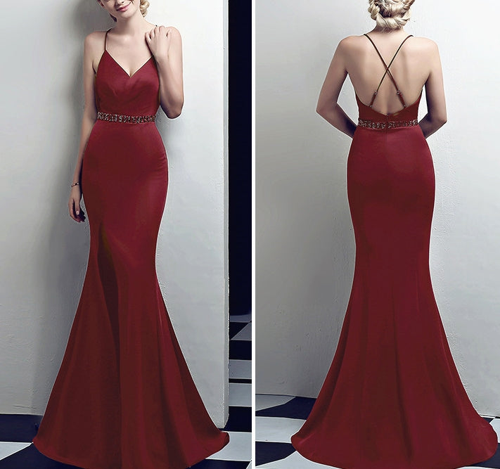 Ina gown (READY STOCK IN S SIZE BURGUNDY RED AND BLACK/ 7 colours)