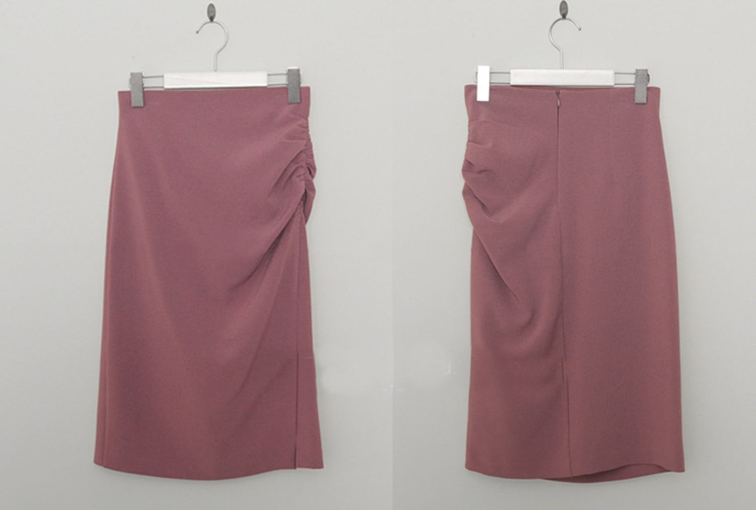 Ruched pencil skirt (preorder/ 2 colours)