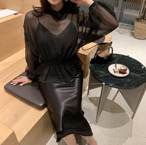 Sayed satin dress (preorder/ 8 colours)