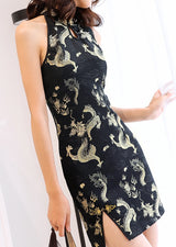 Darcy Cheongsam (ready stock in dragon (M) and swirl (S and XL)/ 2 colours)