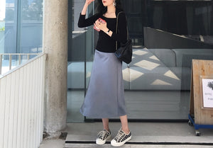 Julienne satin skirt (preorder/ 5 colours)