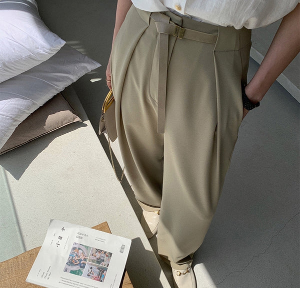 Neiman pants (ready stock in khaki (S) and white (L)/ 4 colours)