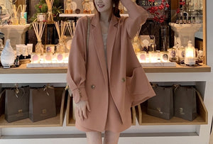 Nanda blazer and skirt set (preorder/ 7 colours)