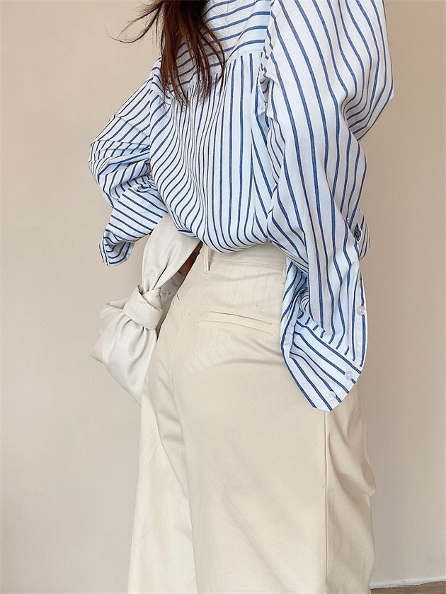 Pinstripe shirt (ready stock in S-L)