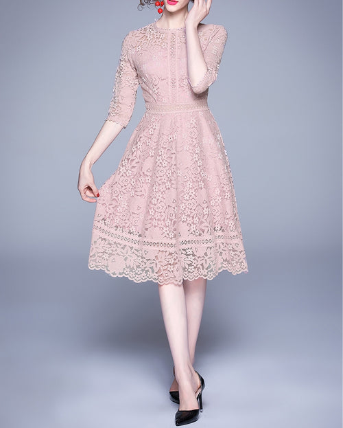 Lushee lace dress (preorder/ 2 colours)