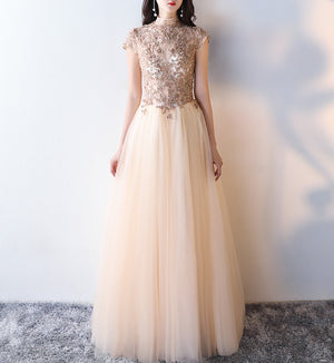 Majestic mandarin collared gown (preorder)