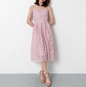 Charlotte midi dress (READY STOCK IN PINK (L)/ 6 colours)