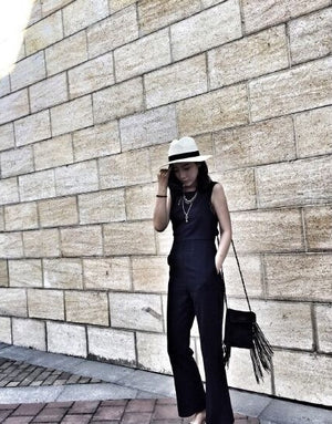 Backless edgy jumpsuit ( preorder)