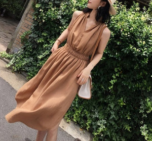 Slyvie dress (ready stock in S khaki/ 2 colours)