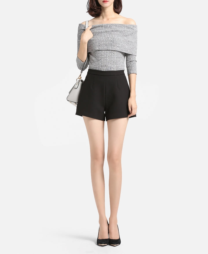 A-line high waisted shorts (preorder/ 2 colours)