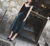 Pleated metallic skirt (preorder/ 2 colours)