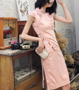 Ethereal short cheongsam (ready stock in M green/ 4 colours)
