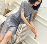 Hudson cheongsam dress (ready stock in M (grey)/ 3 colours)