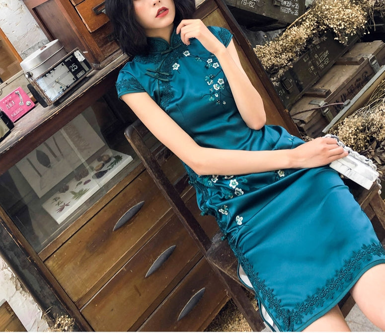 Ethereal short cheongsam (preorder/ 4 colours)