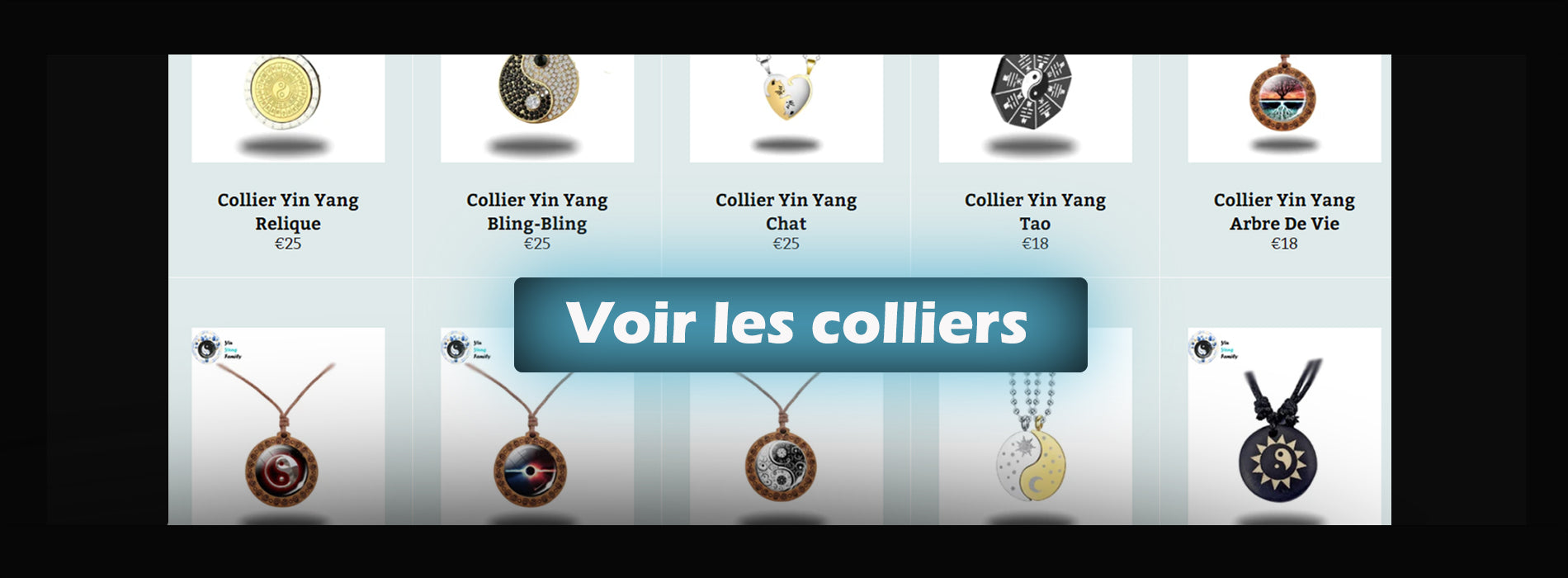 Collection colliers yin yang