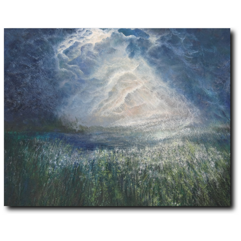 And The Light Was Good | Premium Canvas Gallery Wrap Print 11 by 14 Inches