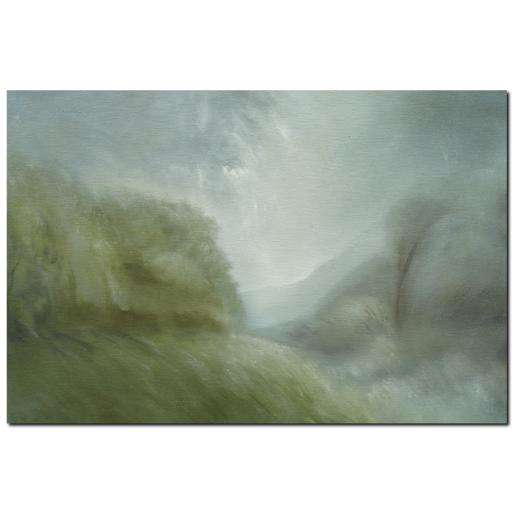 Mountain Mist Premium Canvas Gallery Wrap Print 32 x 48 inches - BA Wygant Studio | Abstract Spiritual Contemporary Art