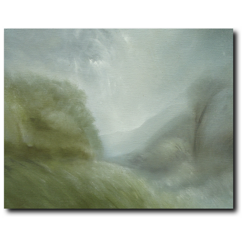 Mountain Mist Premium Canvas Gallery Wrap Print 11 by 14 inches