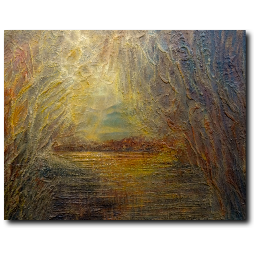 Sunrise Premium Canvas Gallery Wrap Print 14 by 17 Inches - BA Wygant Studio | Abstract Spiritual Contemporary Art