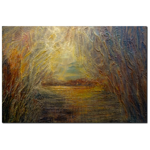 Sunrise Premium Canvas Gallery Wrap Print 32 by 48 Inches