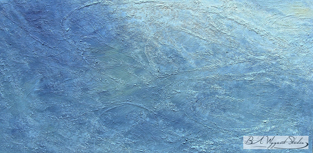 Hatteras | Original Oil Painting on Sculptural Base - BA Wygant Studio | Abstract Spiritual Contemporary Art