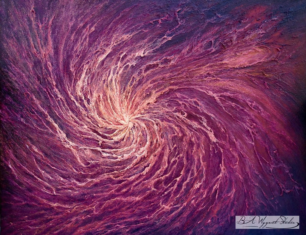 Sacred Spiral | Oil Painting on Sculptural Base - BA Wygant Studio | Abstract Spiritual Contemporary Art