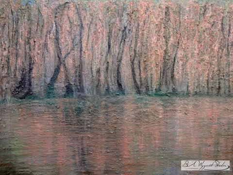 Spring Reflections | Original Oil Painting on Sculptural Base